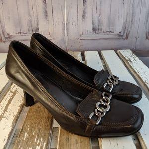 cole haan womens heels comfort ballet buckle black